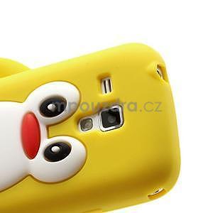 Silikonový obal tučniak pre Samsung Galaxy S Duos - žltý - 4