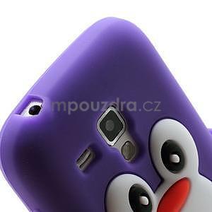 Silikonový obal tučniak pre Samsung Galaxy S Duos - fialový - 4