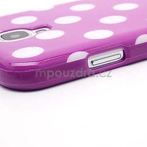 Fialový puntíkovaný obal na Samsung S4 mini - 4