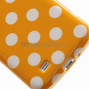 Oranžový puntíkovaný obal pre Samsung S4 mini - 4