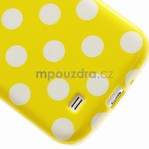 Žlutý puntíkovaný obal na Samsung S4 mini - 4