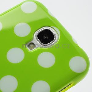 Zelený puntíkovaný obal pre Samsung S4 mini - 4