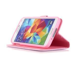 Knížkové PU kožené pouzdro na Samsung Galaxy S5 - lapač snů - 4