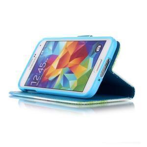 Knížkové PU kožené pouzdro na Samsung Galaxy S5 - láska - 4