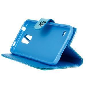 Knížkové PU kožené puzdro pre Samsung Galaxy S5 - California - 4
