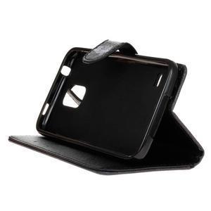 Knížkové PU kožené puzdro pre Samsung Galaxy S5 - sova - 4
