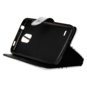 Knížkové PU kožené puzdro pre Samsung Galaxy S5 - odkvetlé púpavy - 4