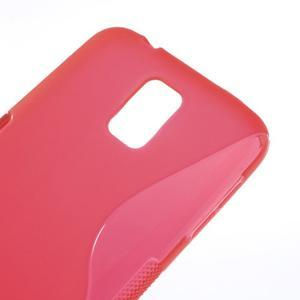 S-line gélový obal pre mobil Samsung Galaxy S5 - červený - 4