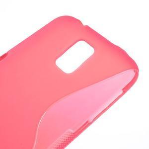 S-line gélový obal pre mobil Samsung Galaxy S5 - rose - 4