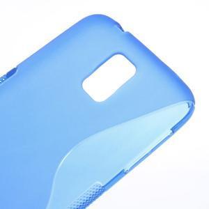 S-line gélový obal pre mobil Samsung Galaxy S5 - modrý - 4