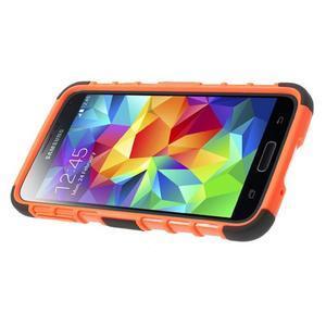 Outdoor odolný kryt na mobil Samsung Galaxy S5 - oranžový - 4