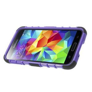 Outdoor odolný kryt pre mobil Samsung Galaxy S5 - fialový - 4