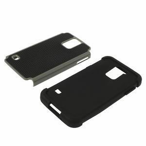 Odolný obal 2v1 pre mobil Samsung Galaxy S5 - šedý - 4