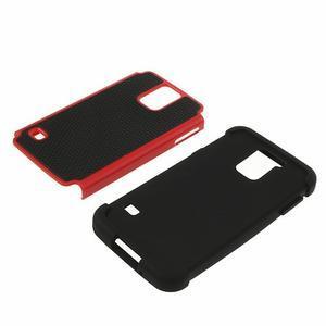 Odolný obal 2v1 pre mobil Samsung Galaxy S5 - červený - 4