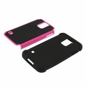 Odolný obal 2v1 pre mobil Samsung Galaxy S5 - rose - 4