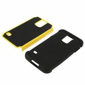 Odolný obal 2v1 na mobil Samsung Galaxy S5 - žlutý - 4
