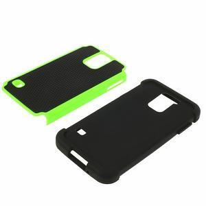 Odolný obal 2v1 na mobil Samsung Galaxy S5 - zelený - 4