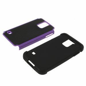 Odolný obal 2v1 na mobil Samsung Galaxy S5 - fialový - 4