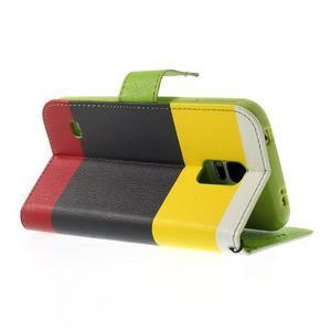 Colory PU kožené pouzdro na mobil Samsung Galaxy S5 - variant II - 4
