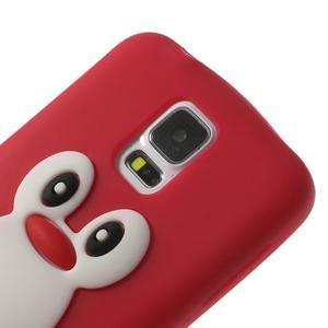 Penguin silikonový obal na Samsung Galaxy S5 - červený - 4