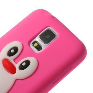 Penguin silikonový obal pre Samsung Galaxy S5 - rose - 4