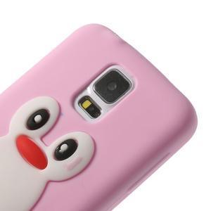 Penguin silikonový obal pre Samsung Galaxy S5 - ružový - 4
