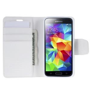 Sonata PU kožené puzdro pre Samsung Galaxy S5 mini - biele - 4