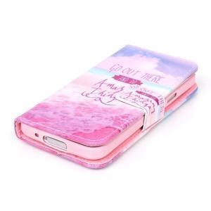 Stand peňaženkové puzdro pre Samsung Galaxy S5 mini - myšlienky - 4