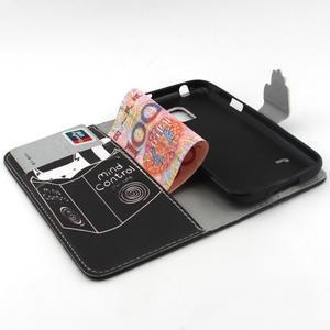Peněženkové pouzdro na mobil Samsung Galaxy S5 mini - kniha a kočička - 4