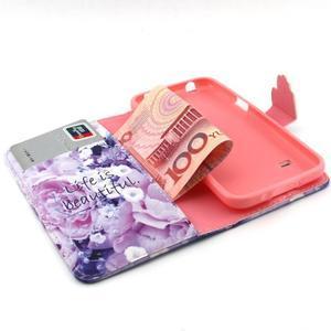Peňaženkové puzdro pre mobil Samsung Galaxy S5 mini -  kvety - 4