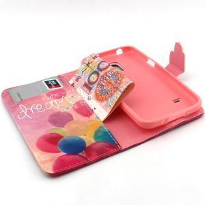 Peňaženkové puzdro pre mobil Samsung Galaxy S5 mini - balónky - 4