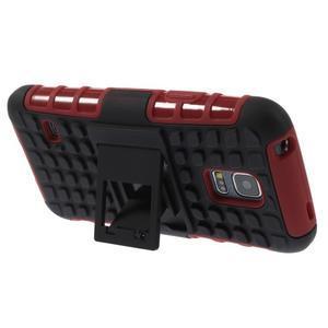 Outdoor odolný obal na mobil Samsung Galaxy S5 mini - červený - 4