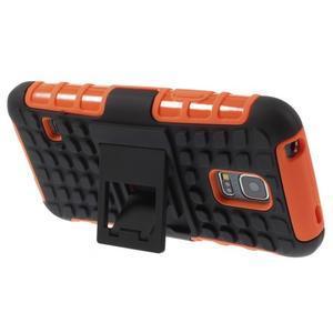 Outdoor odolný obal pre mobil Samsung Galaxy S5 mini - oranžový - 4