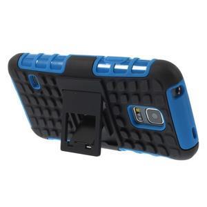 Outdoor odolný obal pre mobil Samsung Galaxy S5 mini - modrý - 4