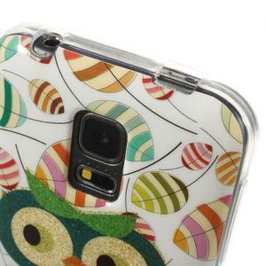 Owls gélový obal pre Samsung Galaxy S5 mini - vykulená sova - 4