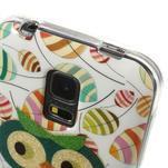 Owls gélový obal pre Samsung Galaxy S5 mini - vykulená sova - 4/4