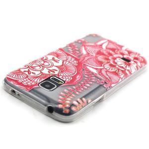 Transparentný gélový obal pre mobil Samsung Galaxy S5 mini - mandala - 4