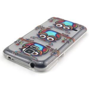 Transparentní gelový obal na mobil Samsung Galaxy S5 mini - sovy - 4