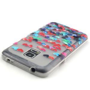 Transparentní gelový obal na mobil Samsung Galaxy S5 mini - srdíčka - 4