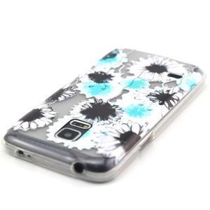 Transparentný gélový obal pre mobil Samsung Galaxy S5 mini - sedmikrásky - 4
