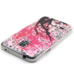 Transparentný gélový obal pre mobil Samsung Galaxy S5 mini - kvitnúca čerešňa - 4