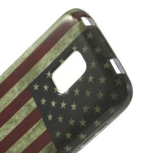 Softy gélový obal pre Samsung Galaxy S5 mini - US vlajka - 4