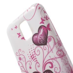 Softy gélový obal pre Samsung Galaxy S5 mini - srdca - 4