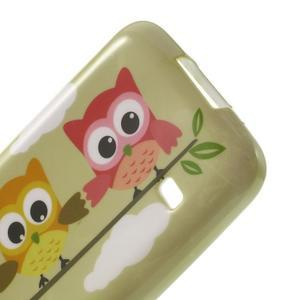 Softy gélový obal pre Samsung Galaxy S5 mini - sovy na vetve - 4