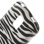 Softy gélový obal pre Samsung Galaxy S5 mini - zebra - 4/5