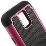 Odolný kryt 2v1 pre mobil Samsung Galaxy S5 mini - rose - 4/5