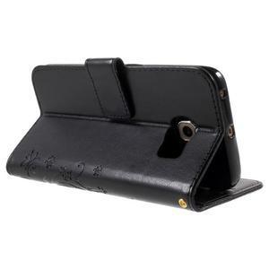 Butterfly PU kožené puzdro pre mobil Samsung Galaxy S6 Edge - čierne - 4