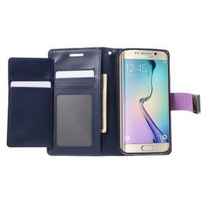 Richdiary PU kožené puzdro pre mobil Samsung Galaxy S6 Edge - fialové - 4