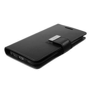 Richdiary PU kožené puzdro pre mobil Samsung Galaxy S6 Edge - čierne - 4