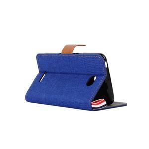 Jeans puzdro pre mobil Sony Xperia E4 - modré - 4